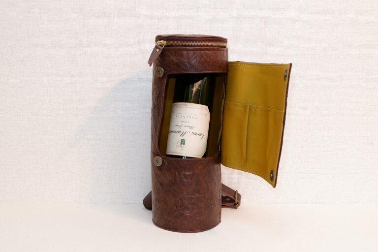 ワインケース 馬革 チョコ
