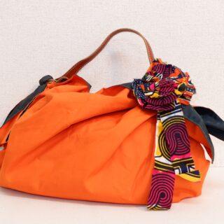風呂敷ハンドバッグ オレンジ