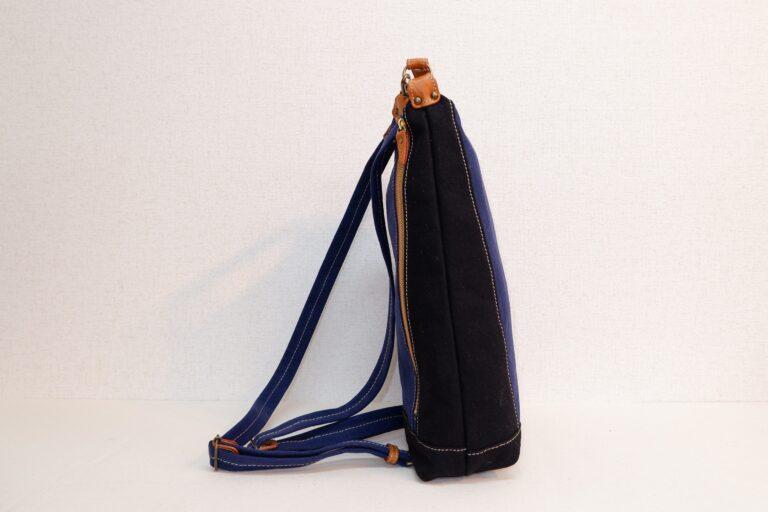 ドータクリュック 帆布 ブルー×ブラック