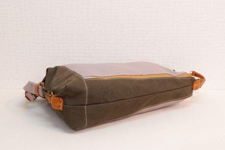 ドータクリュック 帆布 ラベンダー×カーキー