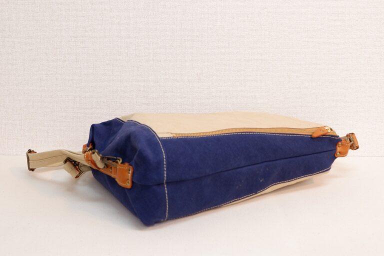 ドータクリュック 帆布 アイボリー×ブルー