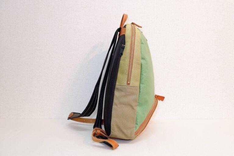 マウスリュック 帆布×リネン ライトグリーン×グリーン