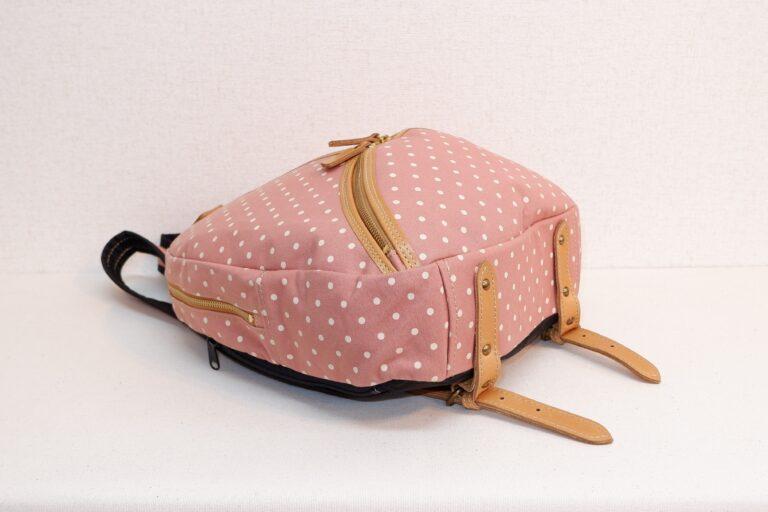 マウスリュック プリント帆布 ピンク
