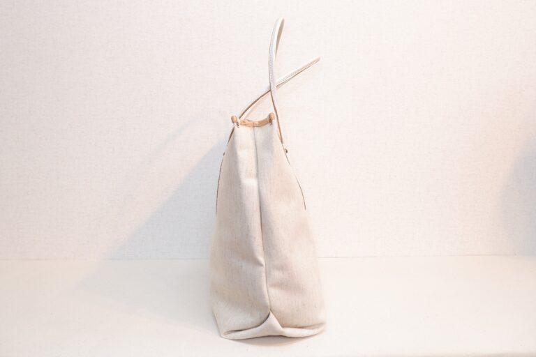 トートバッグ 紬織物 ホワイト