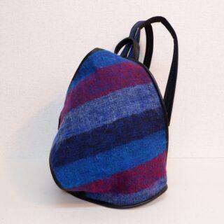 オヒナサマリュック 毛織物 ブルー