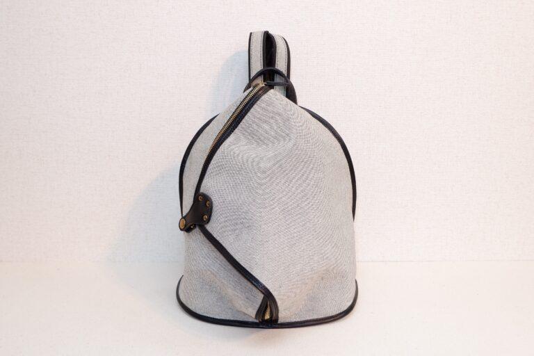 オヒナサマリュック 織物 ライトグレー