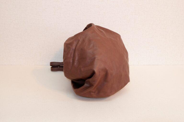UFOハンドバッグ 本牛革 チョコレート