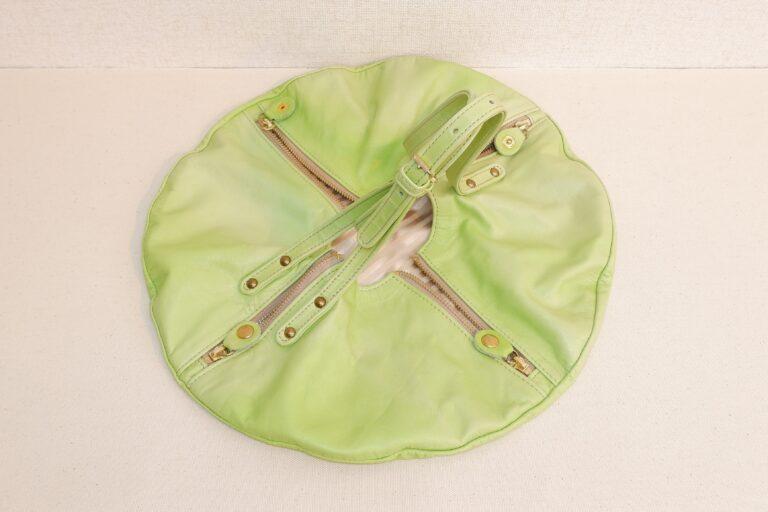 UFOハンドバッグ 本牛革 ライトグリーン