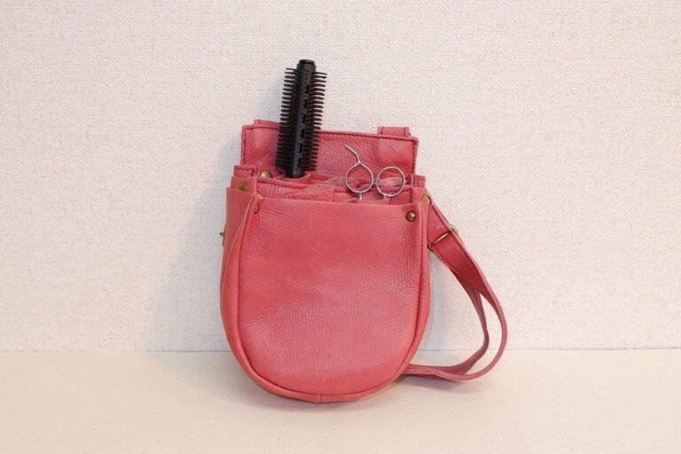 蹄鉄オープンシザーケース 本革製 パッションピンク