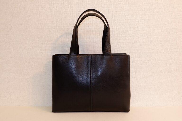 サイドファスナービジネスバッグ 本牛革 ブラック