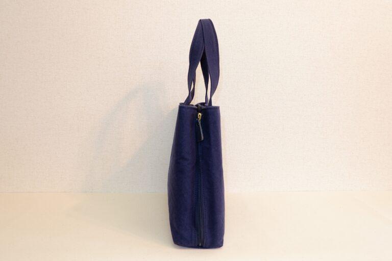 サイドファスナービジネスバッグ 帆布 ネイビー