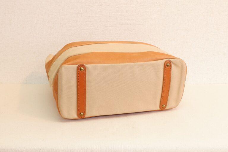 アライトートバッグ 帆布×本牛革 ベージュ
